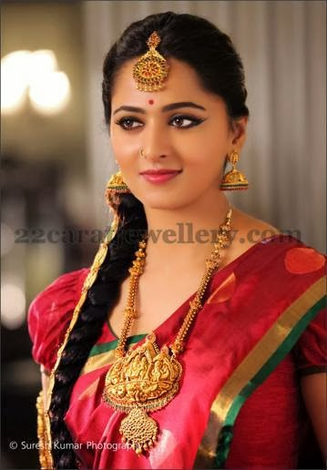 Anushka in Radha Krishna Long Chain