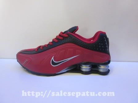 Sepatu Nike Shox Hitam Merah