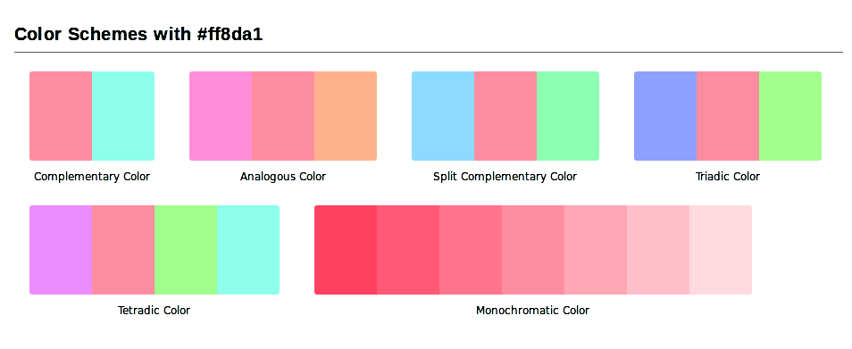 Red y pink juntos no y por separado con algo de for Combinacion de color rosa