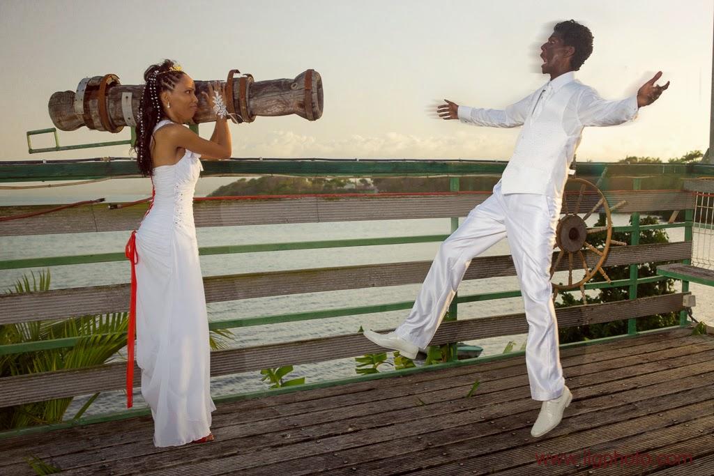 la mariée tire au canon sur son époux