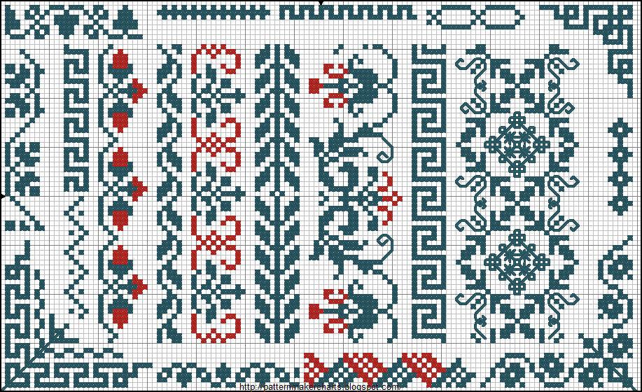 Вышивка крестом орнаменты простые 57