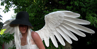 Halcyon large handmade white angel wings Truwings Danielle Hurley