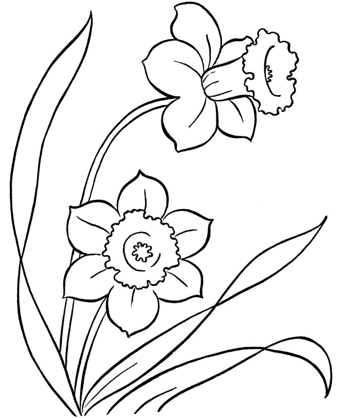 Flower Coloring In Sheets : Kids under flowers coloring pages