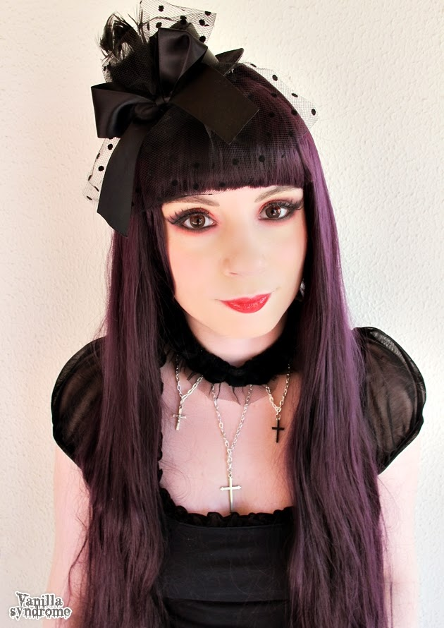 Complete the Gothic Look with Geo Color Nine Red Contact Lenses