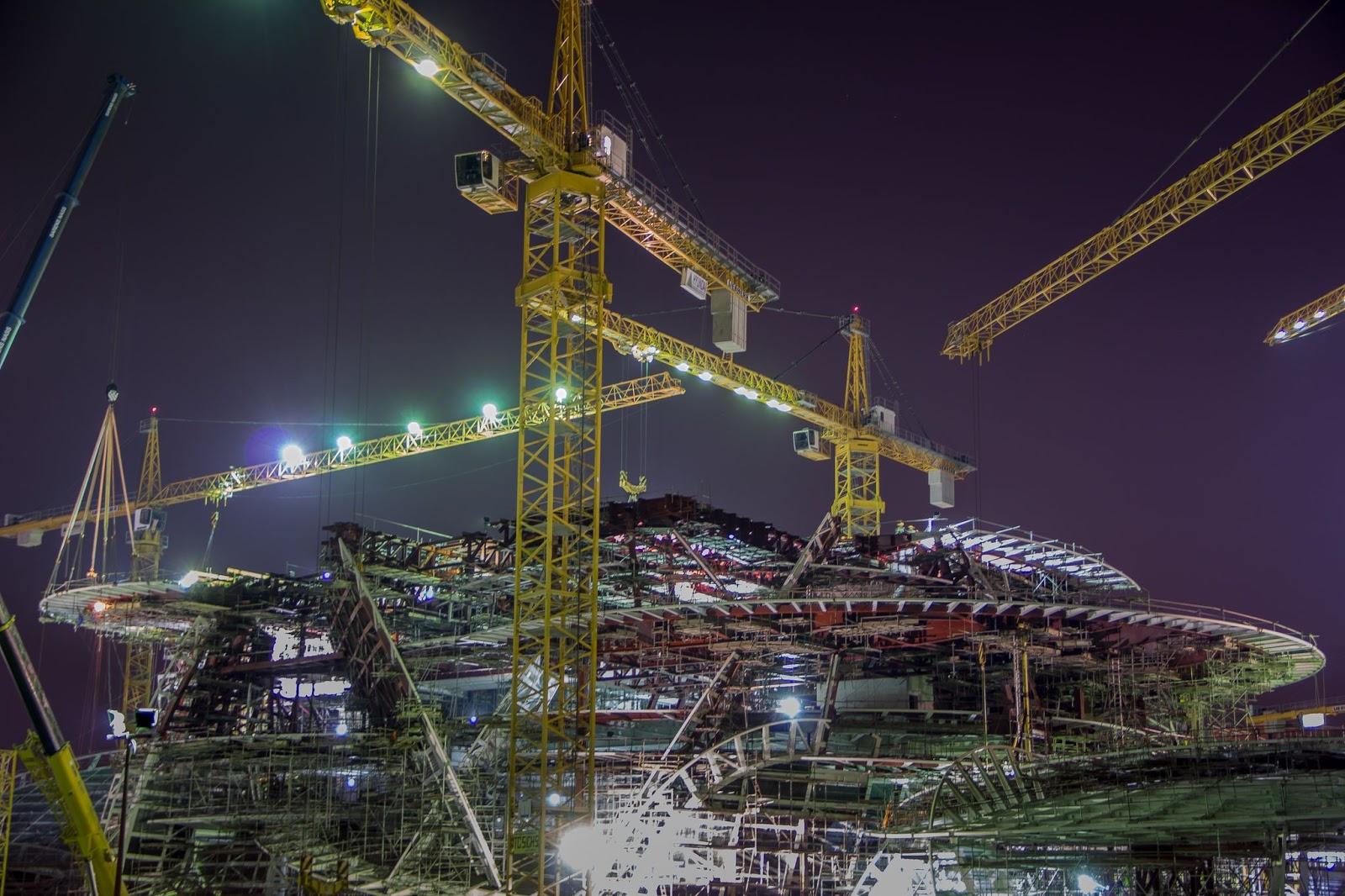 National musuem of qatar construction pinterest for Architecture companies qatar