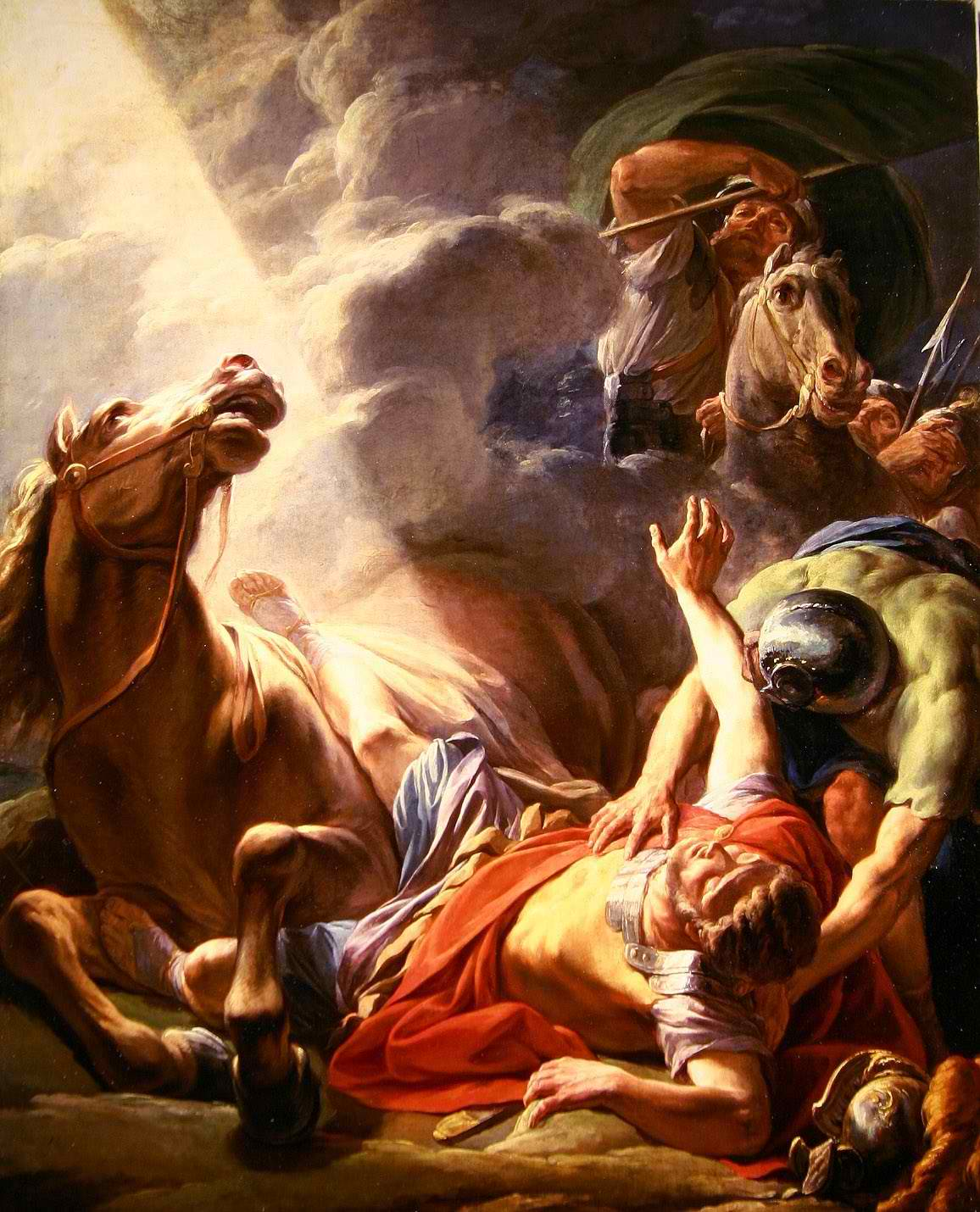 Christ meets Saul on the road to Damascus