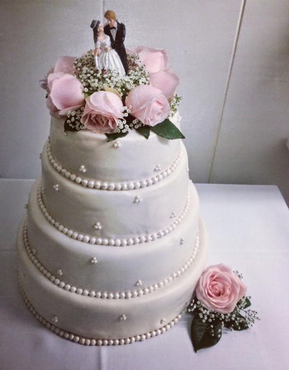 Bröllopstårta juli 2014