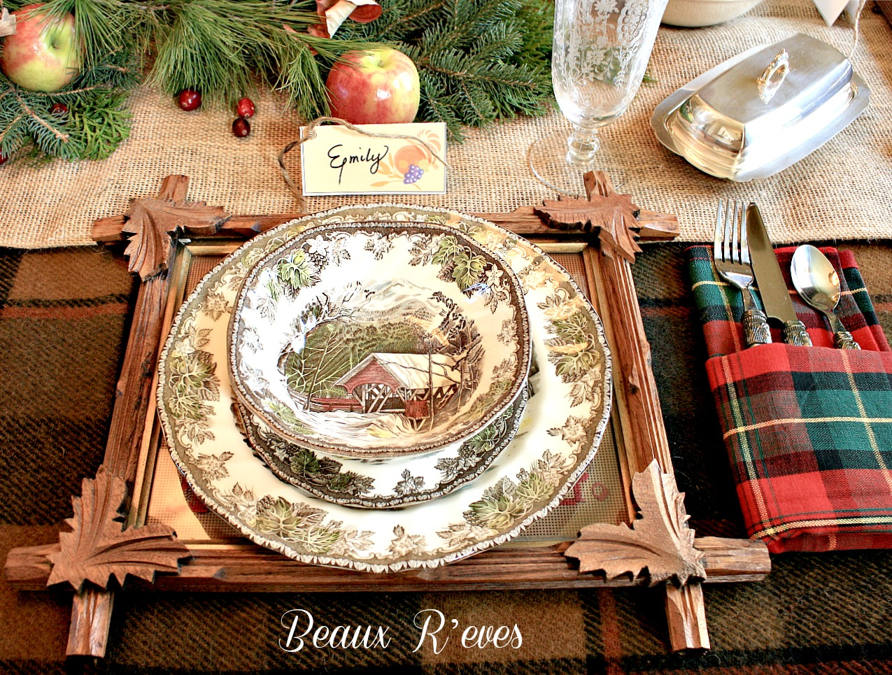Decorating Ideas > Rustic Thanksgiving Table Setting Ideas Images & Pictures  ~ 075812_Thanksgiving Village Decorations