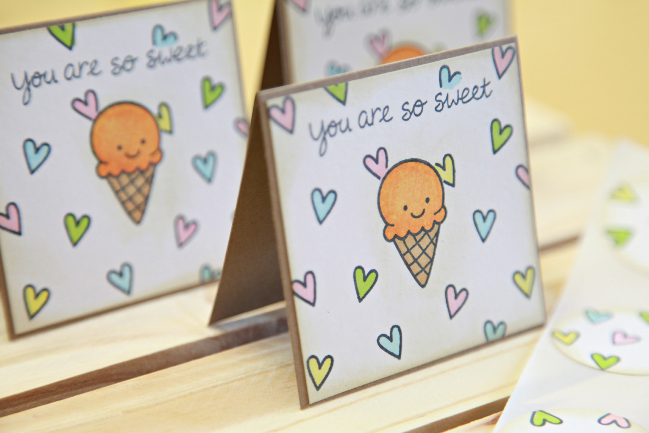 unify handmade card of the week mini note cards