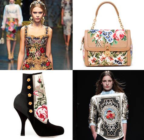 Needlepoint Dolce & Gabbana Runway Trend
