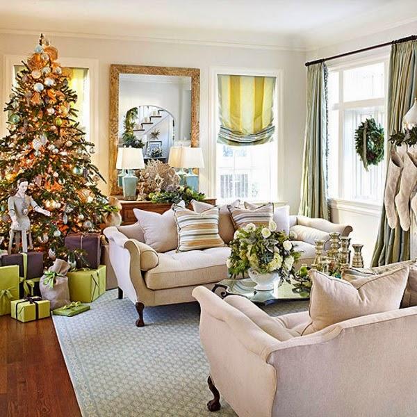 Salas decoradas en navidad salas con estilo - Decoracion navidena moderna ...