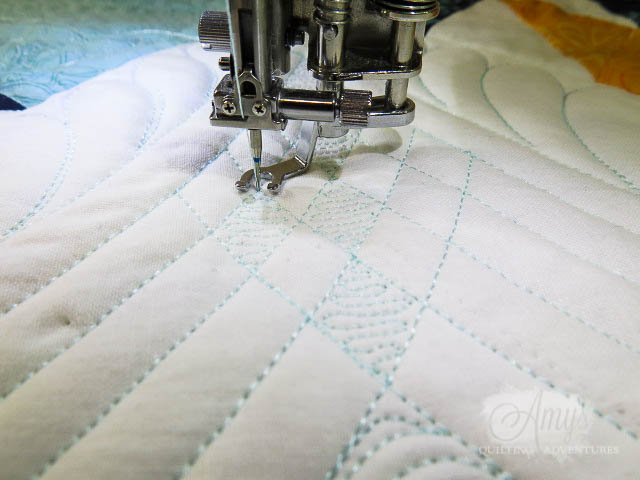 quilting with rulers partial crosshatching with fill
