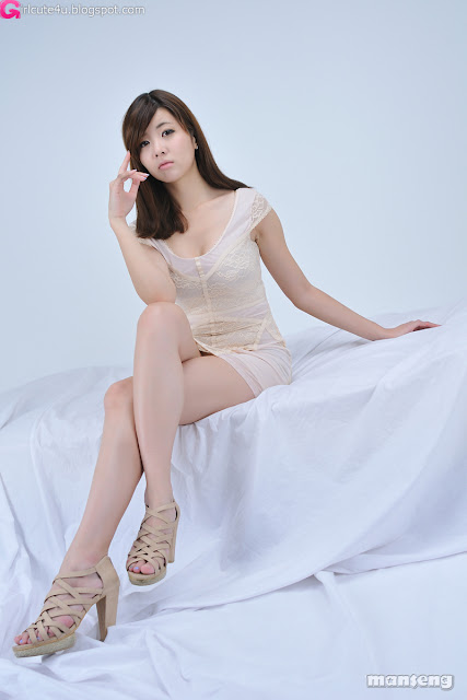 4 Jung Se On - Beige Mini Dress-very cute asian girl-girlcute4u.blogspot.com
