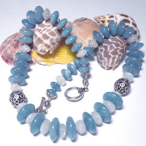 Heavenly Angelite and Rainbow Moonstone