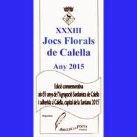 'XXXIII Jocs Florals de Calella 2015'