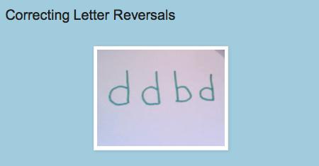 http://drzachryspedsottips.blogspot.com/2011/04/correcting-letter-reversals.html
