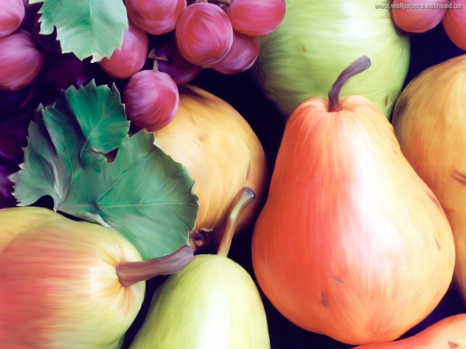 Wallpapernarium sabrosas peras uvas y manzanas coloridas for Sfondilandia primavera