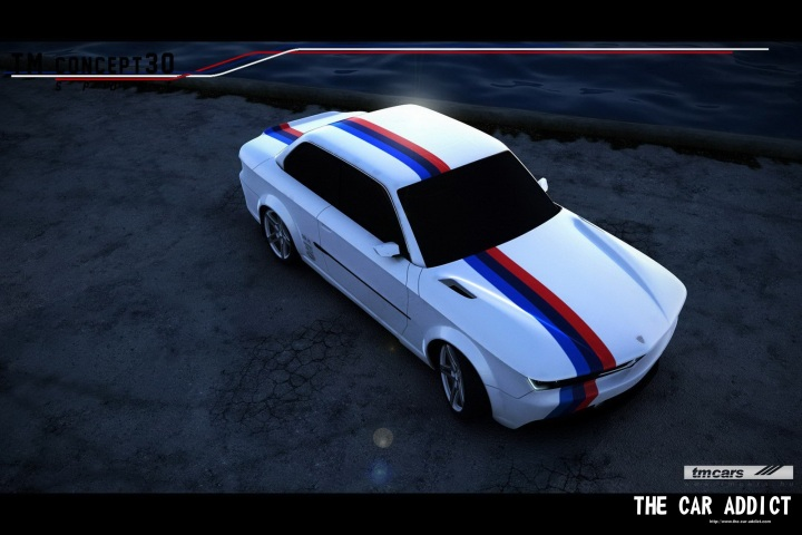 TM concept 30 E30 white with BMW racing stripes by TMCars