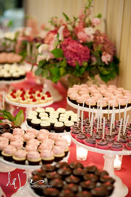 Pink Desserts for Twin Cities Dessert Table