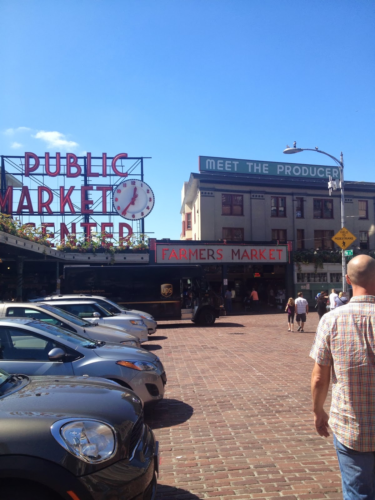 Kara got to visit Pike Place Market
