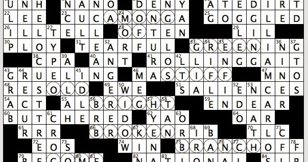 Rex parker does the nyt crossword puzzle 1935 poem with for Japanese flower arranging crossword clue