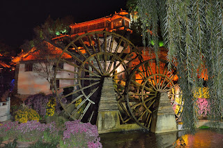 Water wheels in Lijiang, Yunnan, China