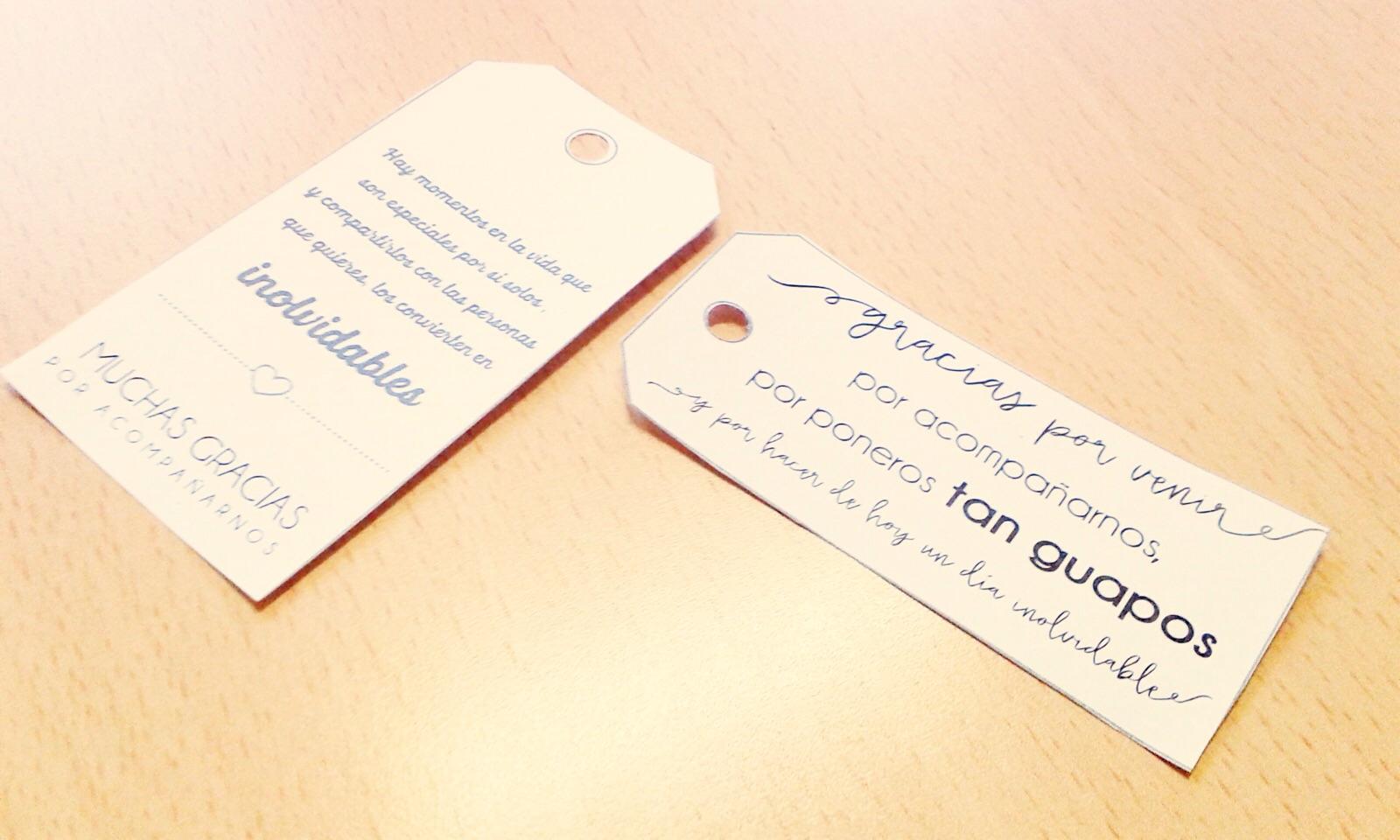 Blog de bodas - Yo dire que si: Etiquetas de agradecimiento para los ...