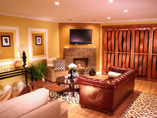 Home office designs living room color schemes for Color scheme for living room walls