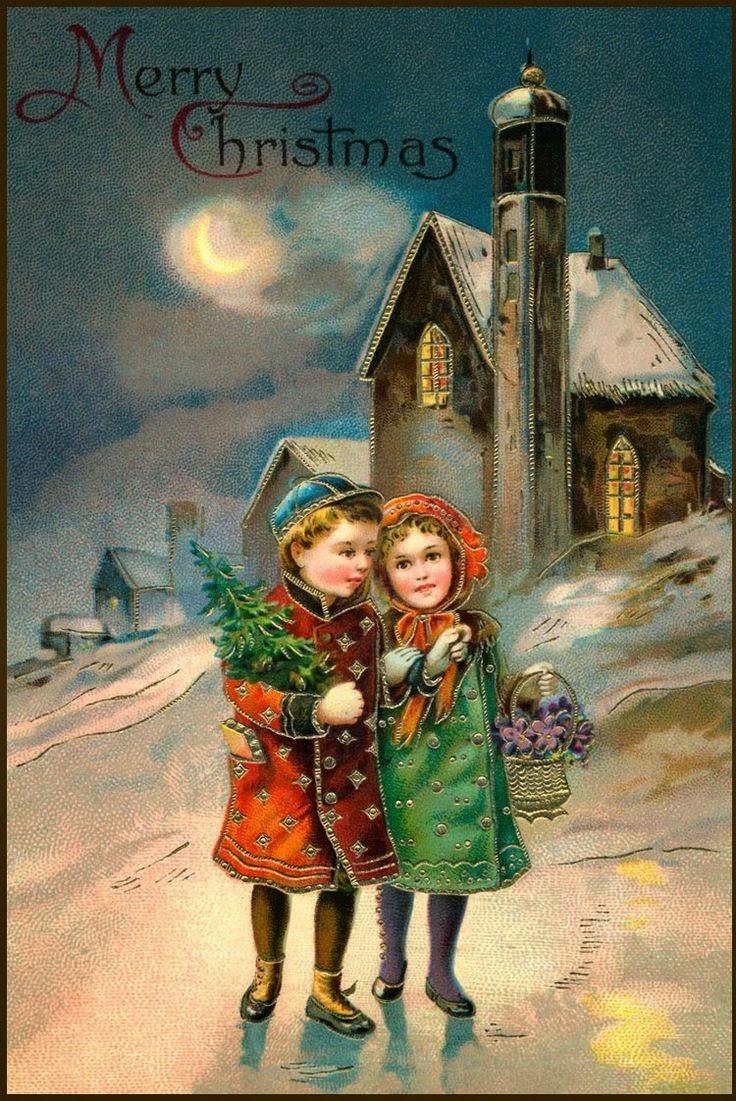 Для детей рождественские открытки