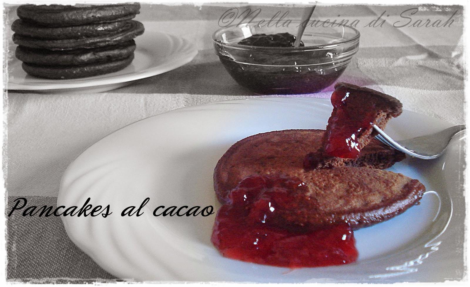 si ricomincia! ~ pancakes al cacao
