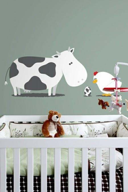 Marzua stickers de animales para dormitorios de beb s for Stickers para habitaciones