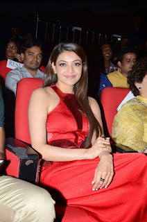 Actress Kajal Agarwal Latest Pictures in Long Dress at Temper Movie Audio Launch Function  17