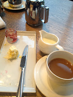 cream tea with jam and clotted cream