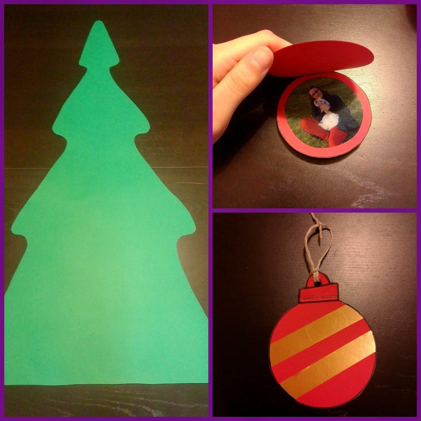 Y punto arbol de navidad de cartulina para ni os - Bolas transparentes para decorar ...