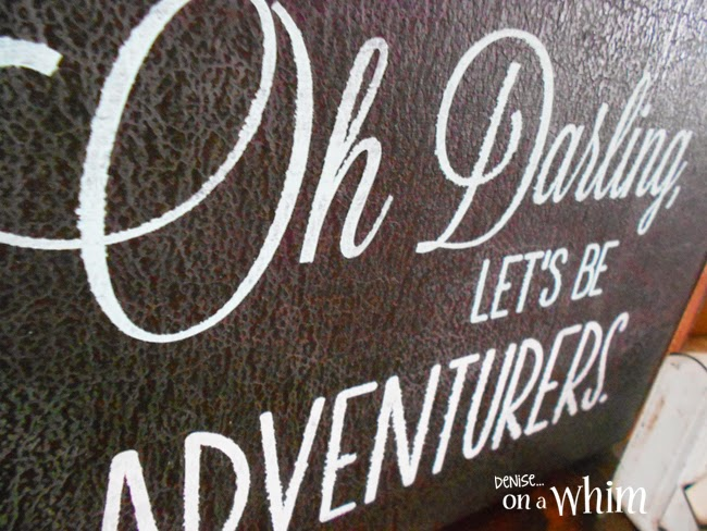 Vintage Suitcase Repurposed as a Sign | Denise on a Whim