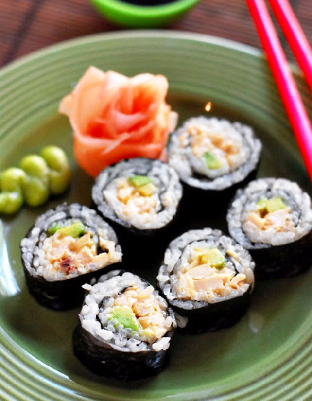 Chipotle Chicken Sushi Roll