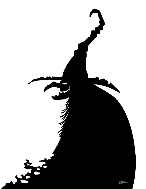 Insane image with witch silhouette printable