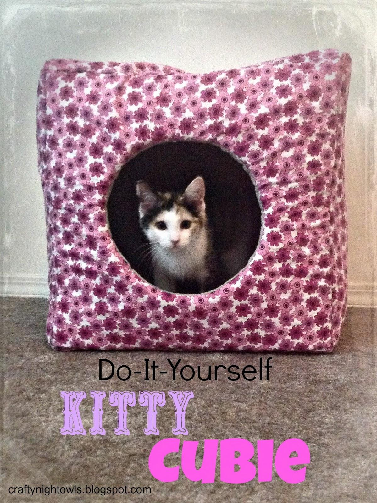 Crafty night owls diy kitty cubie diy kitty cubie jeuxipadfo Gallery