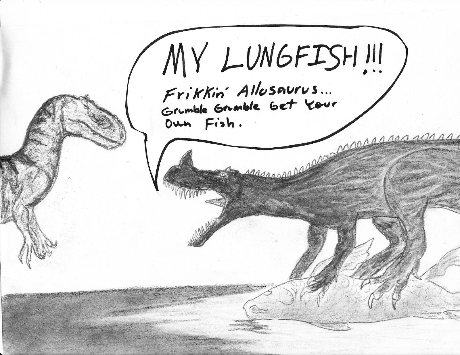 Juvenile Allosaurus an...