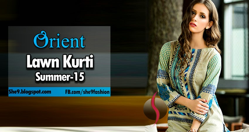 Orient Lawn Kurti Collection 2015