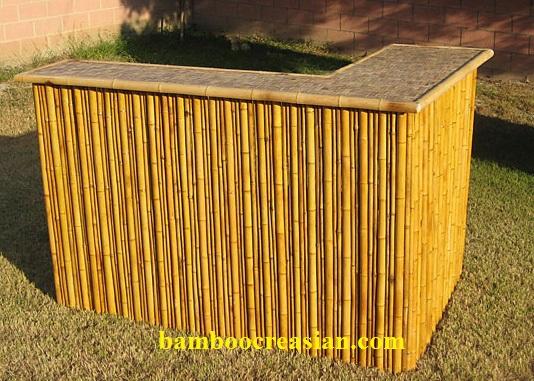 3 piece bamboo patio tiki bar stool set creasian s bamboo bar