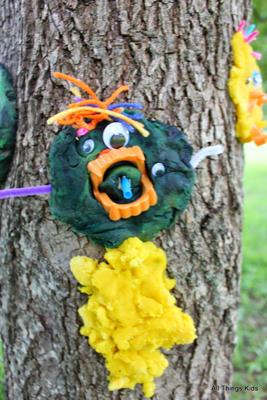 Playdough Tree Monsters