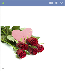 Beautiful roses icon for Facebook