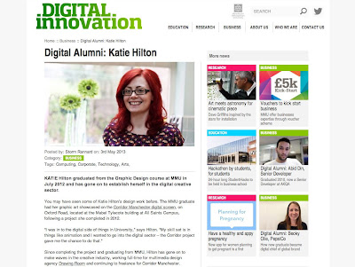 Digital Innovation Digital Alumni Katie Hilton Manchester Metropolitan University