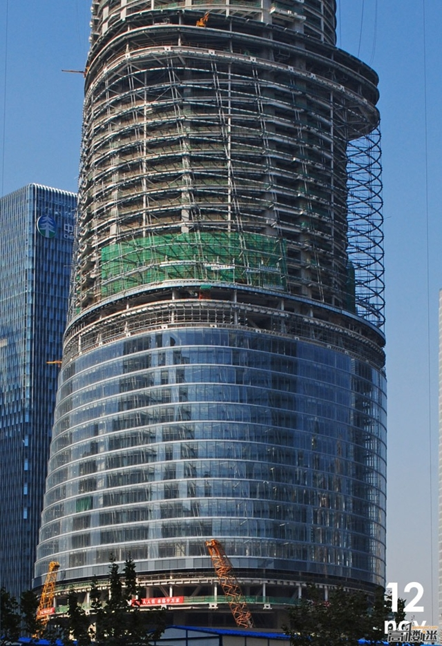 Photo of lower part of the tower under construction