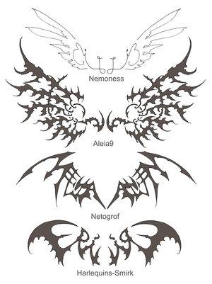 Tattoo 2012 wing tattoos for Thin line tattoo artists near me