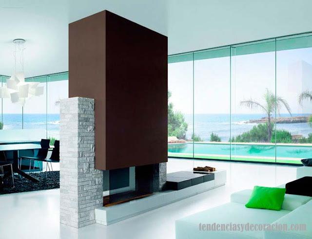 Hogares chimeneas con estilo - Revestimiento de chimeneas modernas ...