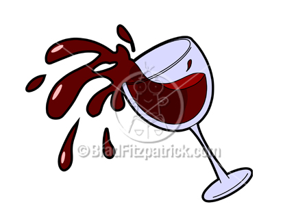 Vector Clipart of spilled wine glass design background 8