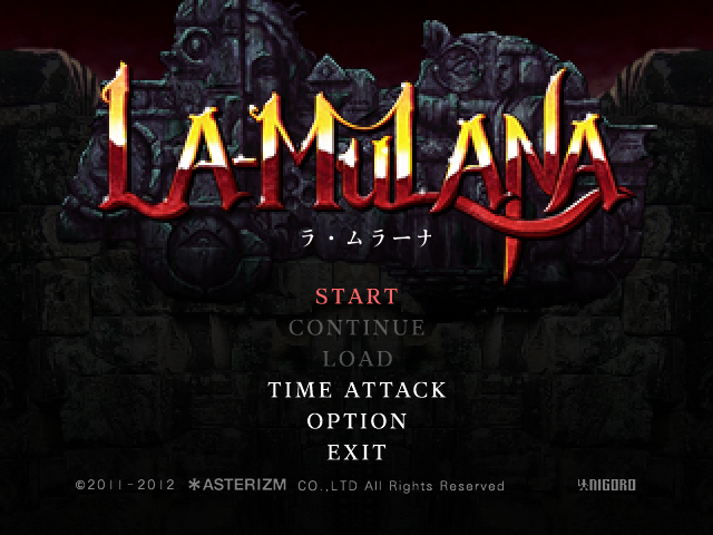 La-Mulana remake 2012 title screen