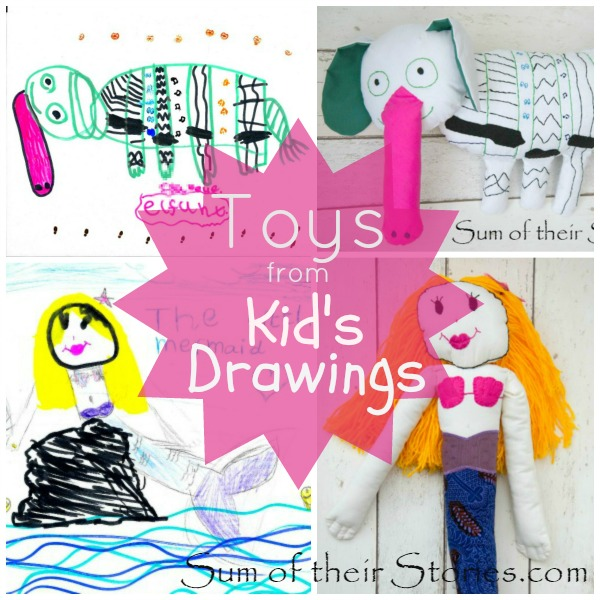 how to make toys from children's drawings